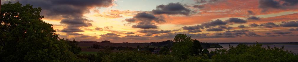 Morgenröte über dem Bodden