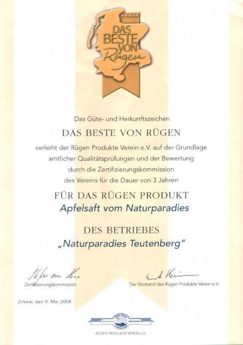 """Mitglied in Verein """"Das Beste von Rügen"""