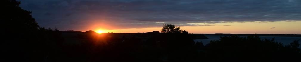 Sonnenaufgang über dem BioHof Teutenberg
