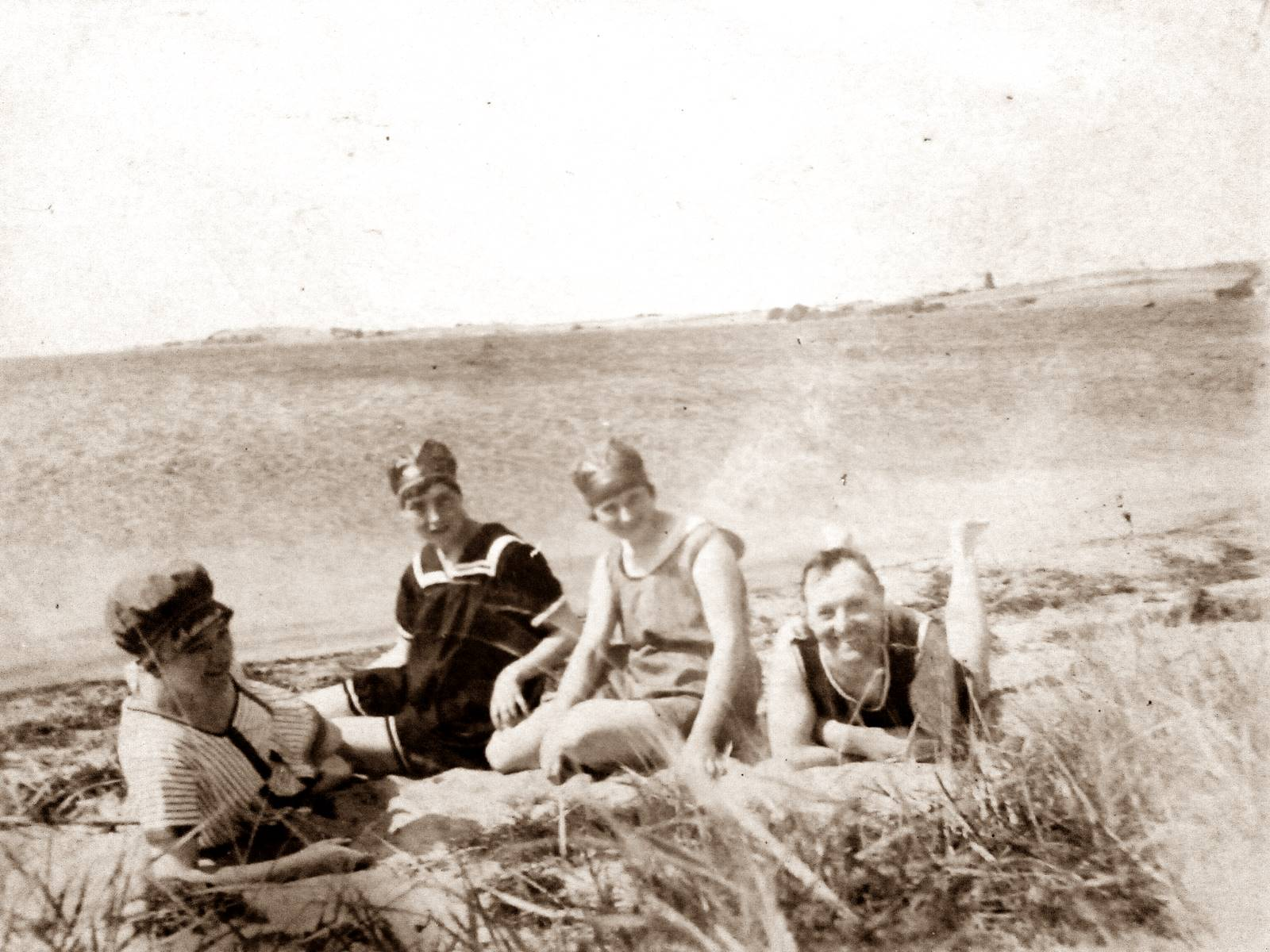 Badegäste im August 1921
